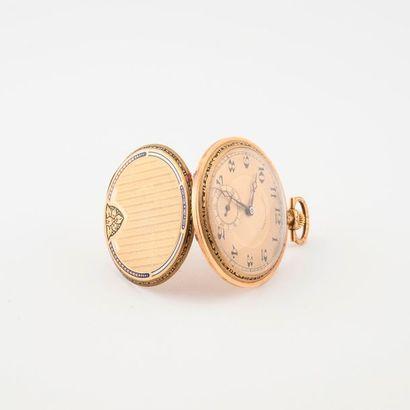 Montre de gousset chronomètre en or jaune...