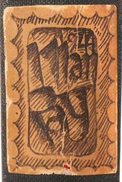 MAN RAY (RADNITSKY EMMANUEL, DIT) (1890-1976) 1944, manuscrit autographe signé Hollywood,...
