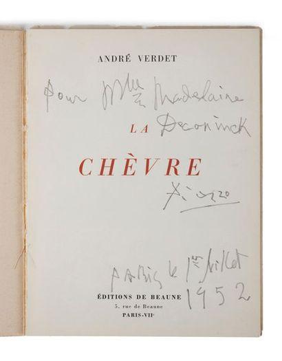 [PABLO PICASSO] VERDET, André