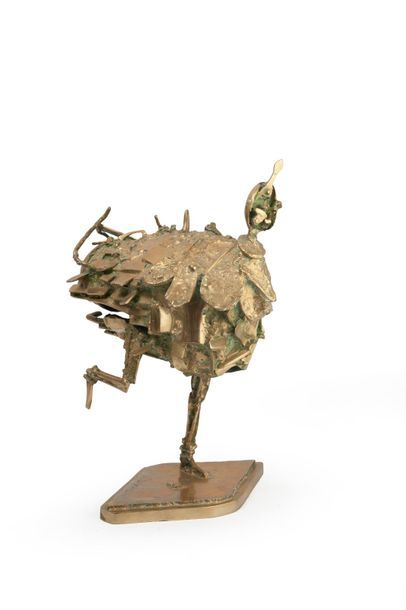 César (1921-1998) Le Tango, 1954-1968. Epreuve en bronze doré. Signée et inscription...