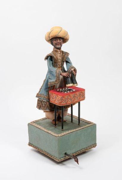 Maison FARKAS, Xxème Le magicien oriental. Automate, la tête et les mains en terre...