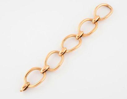 Bracelet en or jaune (750) formé de 5 maillons...