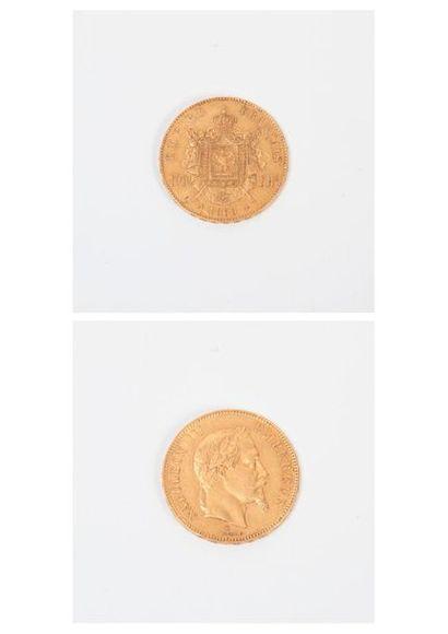 FRANCE Pièce de 100 francs or, Napoléon...
