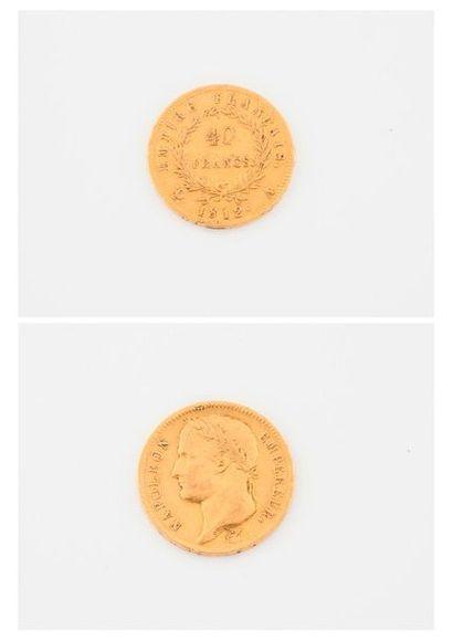 FRANCE  Pièce de 40 francs, Napoléon Empereur,...