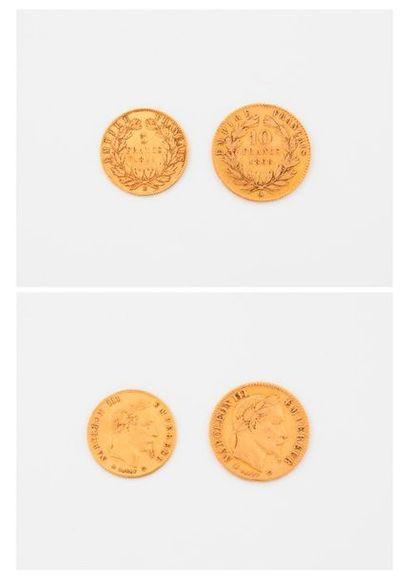 FRANCE  Lot comprenant :  - Pièce de 5 francs...