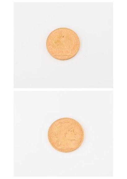 FRANCE Pièce de 20 francs or, IIIème république,...