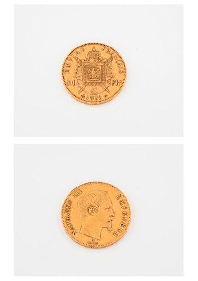 FRANCE  Pièce de 100 francs, Napoléon III,...