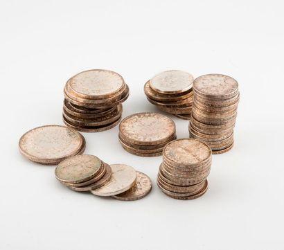Lot de pièces en argent notamment 50, 100,...