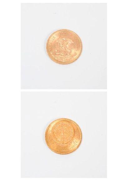MEXIQUE Pièce de 20 pesos or, 1959. Poids...