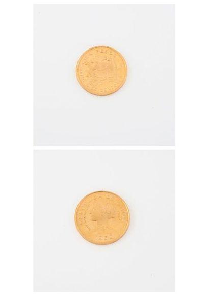 CHILI Pièce de 100 pesos or, 1960.  Poids...