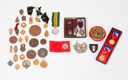 Ensemble d'insignes (d'infanterie, Hampshire,...