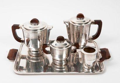 Partie de service à thé-café (4 pièces) en...