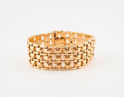Bracelet ruban en or jaune (750) à maillons...