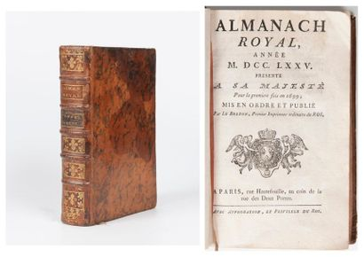 Almanach royal, année 1775, présenté à sa majesté pour la première fois en 1699