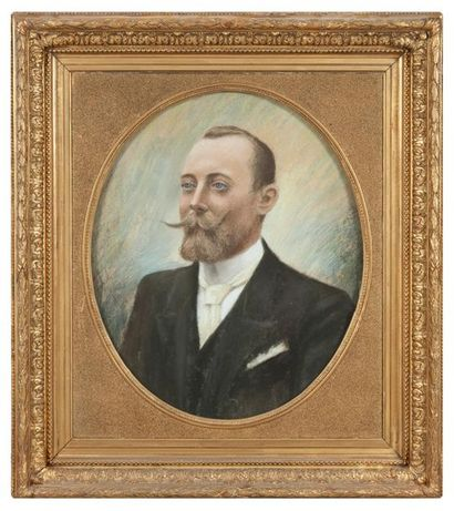 Ecole FRANCAISE de la fin du XIXème siècle Portraits de Monsieur Léopold BONY et...
