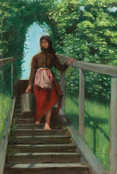 Attribuée à Antoine DRUET (1857-1921)