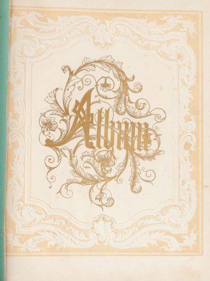 Seconde moitié du XIXème siècle Journal de jeune fille. Manuscrits sur papier, découpis...,...