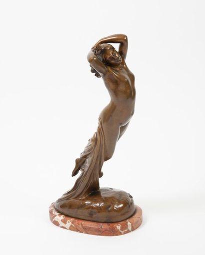 D'après Joseph Michel-Ange POLLET (1814-1870) Une heure de la nuit. Epreuve en bronze...