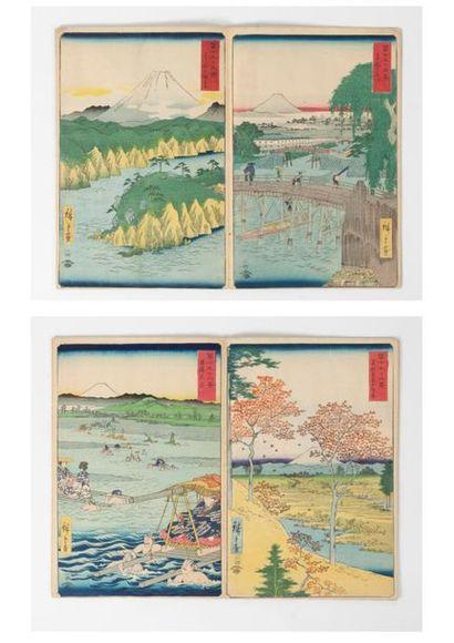 JAPON, seconde moitié du XIXème siècle, d'après Utagawa HIROSHIGE (1797-1858)
