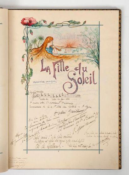 Livre d'or pour la soirée de Gala donnée en l'honneur du poète Stephen Liégeard, le 17 déc. 1904