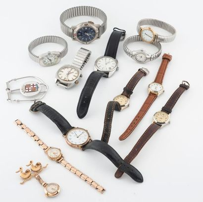 Lot de montres bracelets diverses dont ARTOP......