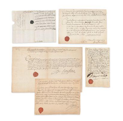 ancien régime. 13 L.S. ou P.S., XVIIe siècle et début du XVIIIe.  Vincent Bouhier...