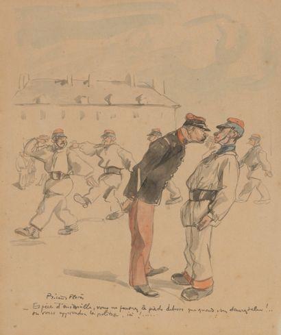 """Ecoles du début du XXème siècle Deux dessins :  - Ricardo FLORES (1878-1918)  """"Espèce..."""