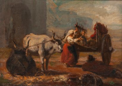 Attribué à ou entourage de Nicolas François CHIFFLART (1825-1901)