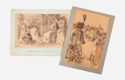 "ECOLES DU XIXÈME SIÈCLE - Attribuée à Carlo GARACCI (1818-1895)  ""Suprême adieu""..."