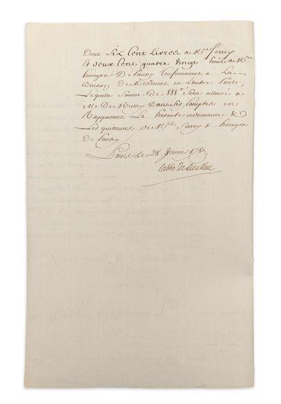 MESDAMES. P.S. par Marie-Adélaïde (avec le mot « bon » autographe) et Victoire,...
