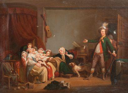 D'après Jean-Baptiste GREUZE (1725-1805) , XIXème siècle