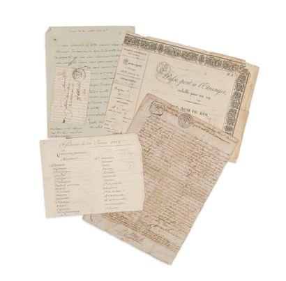 DIVERS. Important ensemble de documents.  Recueil relié parchemin de 10 imprimés...