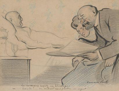 Lot comprenant : - Jean-Louis FORAIN (1852-1931),  Le cocher demande des ordres....