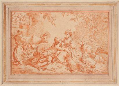 Jean-François Janinet (1752-1814) Le rendez-vous comique - Les comédiens comiques,...