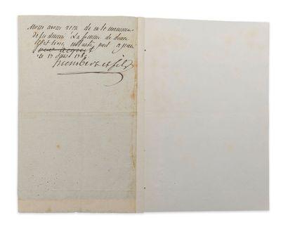 Jeanne Bécu, comtesse du BARRY (1743-1793) maîtresse de Louis XV. P.S. avec apostille...