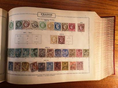 TOUS PAYS, Emissions 1840/1900 Album MAURY contenant des timbres neufs et oblitérés,...