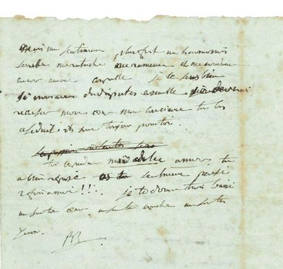 NAPOLÉON Ier (1769-1821) Empereur. L.A.S. « BP », « 9 heures du matin » [fin février...