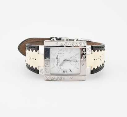 Christian DIOR, Riva Sparkling Montre bracelet de dame. Boîtier rectangulaire en...