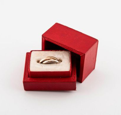 CARTIER, Trinity Timeless three-ring wedding band in three shades of gold (750),...