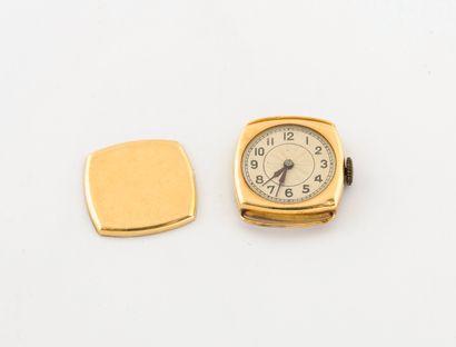 Boîtier de montre en or jaune (750)  Cadran...