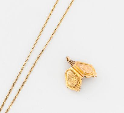 Chaîne de cou en or jaune (750) à maille...