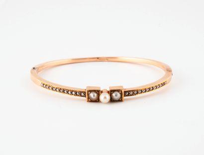 Bracelet rigide, ouvrant, en or jaune (750)...