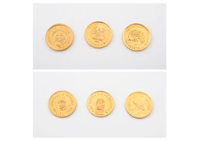 Trois petites pièces du Vénézuela (Caciques...