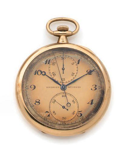 Montre chronographe en or 750 millièmes,...