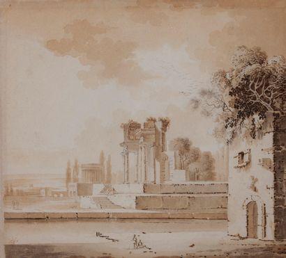 Attribué à Jean-Jacques de BOISSIEU (Lyon 1736-1810)