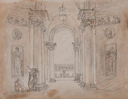 Hubert ROBERT (Paris 1733-Id.1808)