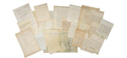 ANCIEN RÉGIME. 25 lettres ou pièces, la plupart...