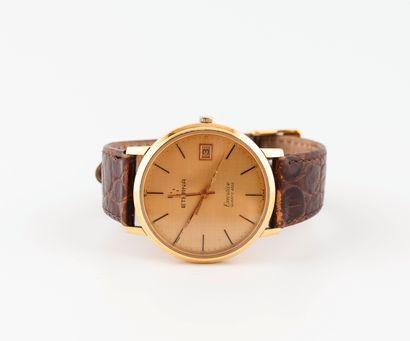 ETERNA, Executive Montre bracelet d'homme.  Boîtier rond en or jaune (750).  Cadran...