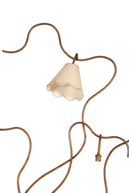 Jean Royère (1902-1981) Floor lamp model Liane with five lights, circa 1960. In metal...