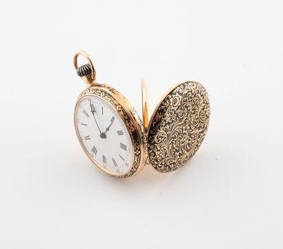 Petite montre de gousset en or jaune (750)....